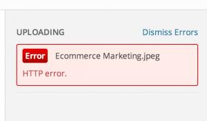 HTTP error WordPress