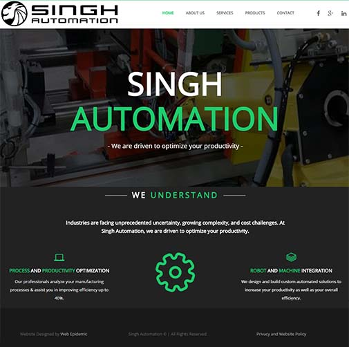 singh automation web epidemic
