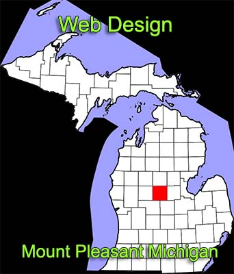 Web Design Mount Pleasant Michigan - map